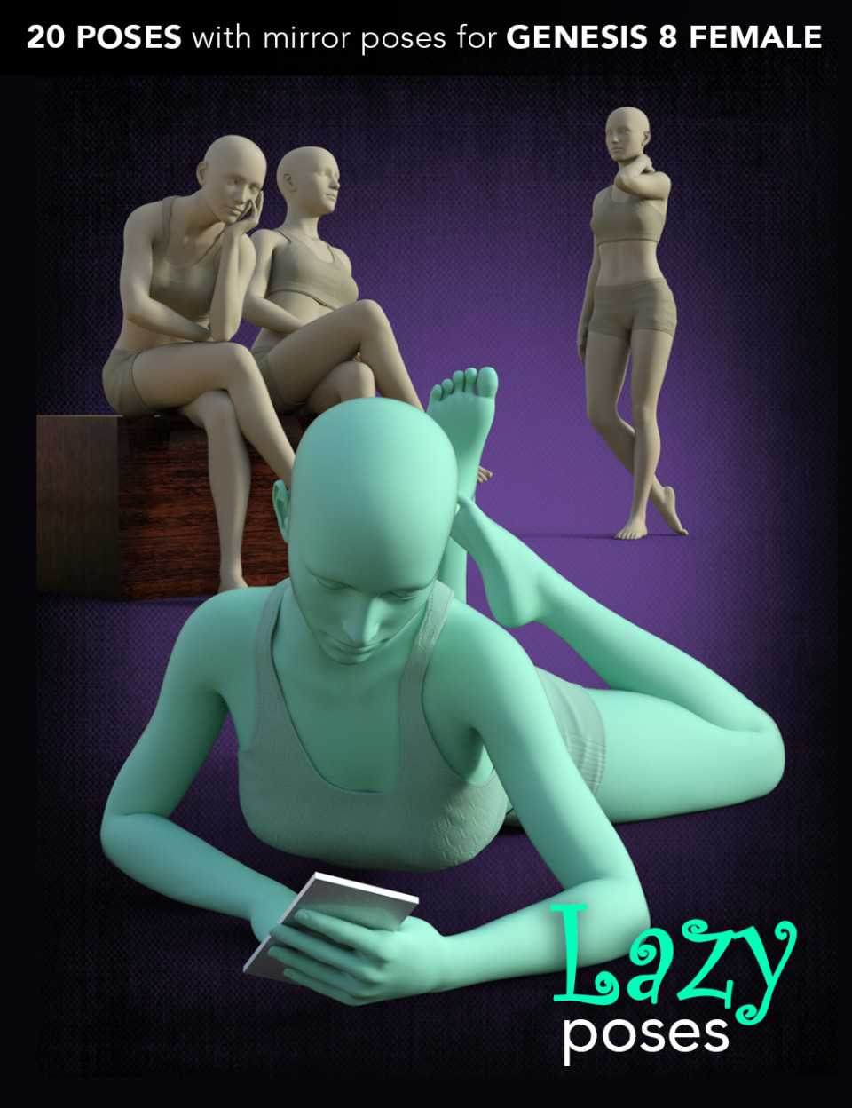 Lazy Poses for Genesis 8 Female