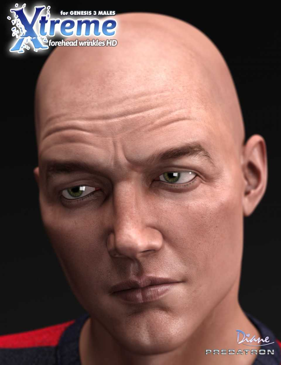 Xtreme Forehead Wrinkles HD for Genesis 3 Male(s)