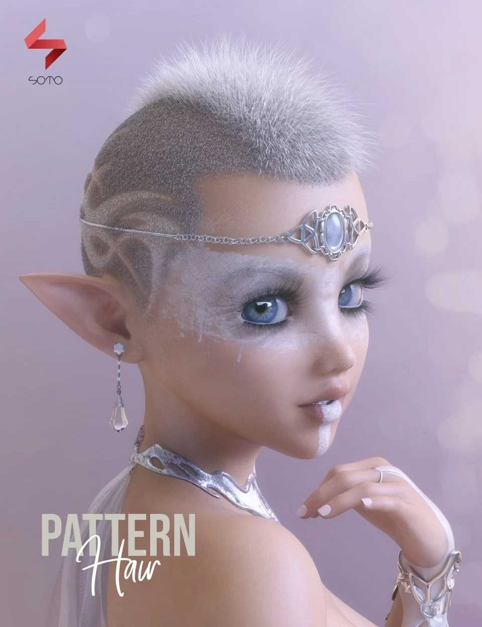 Pattern Hair for Genesis 3 and 8