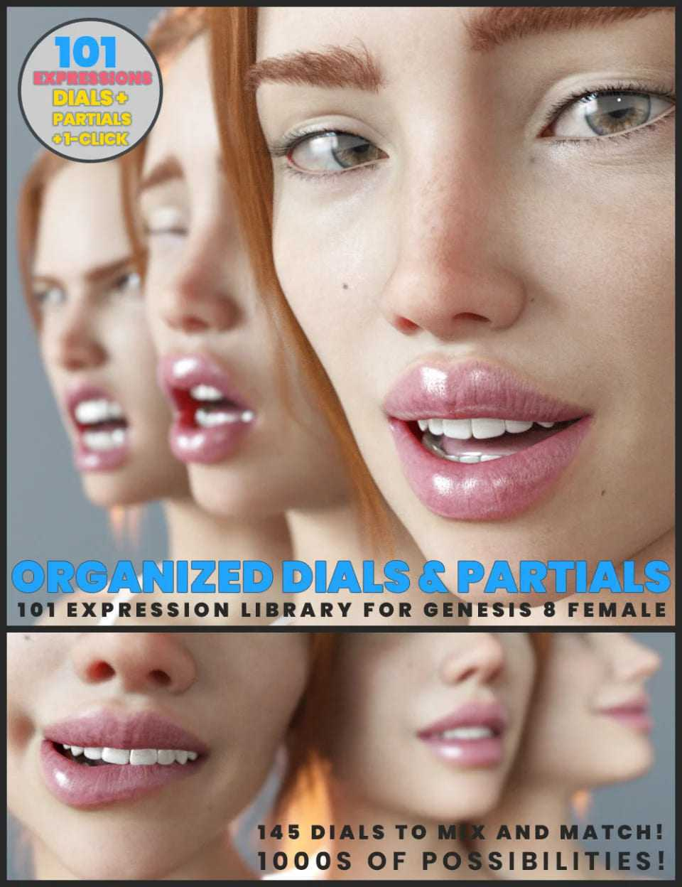 101 Expression Library with Dials for the Genesis 8 Female