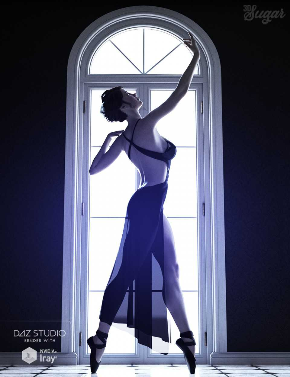 101 Series Pure Grace Poses and Ballet Shoes for Genesis 8 Female