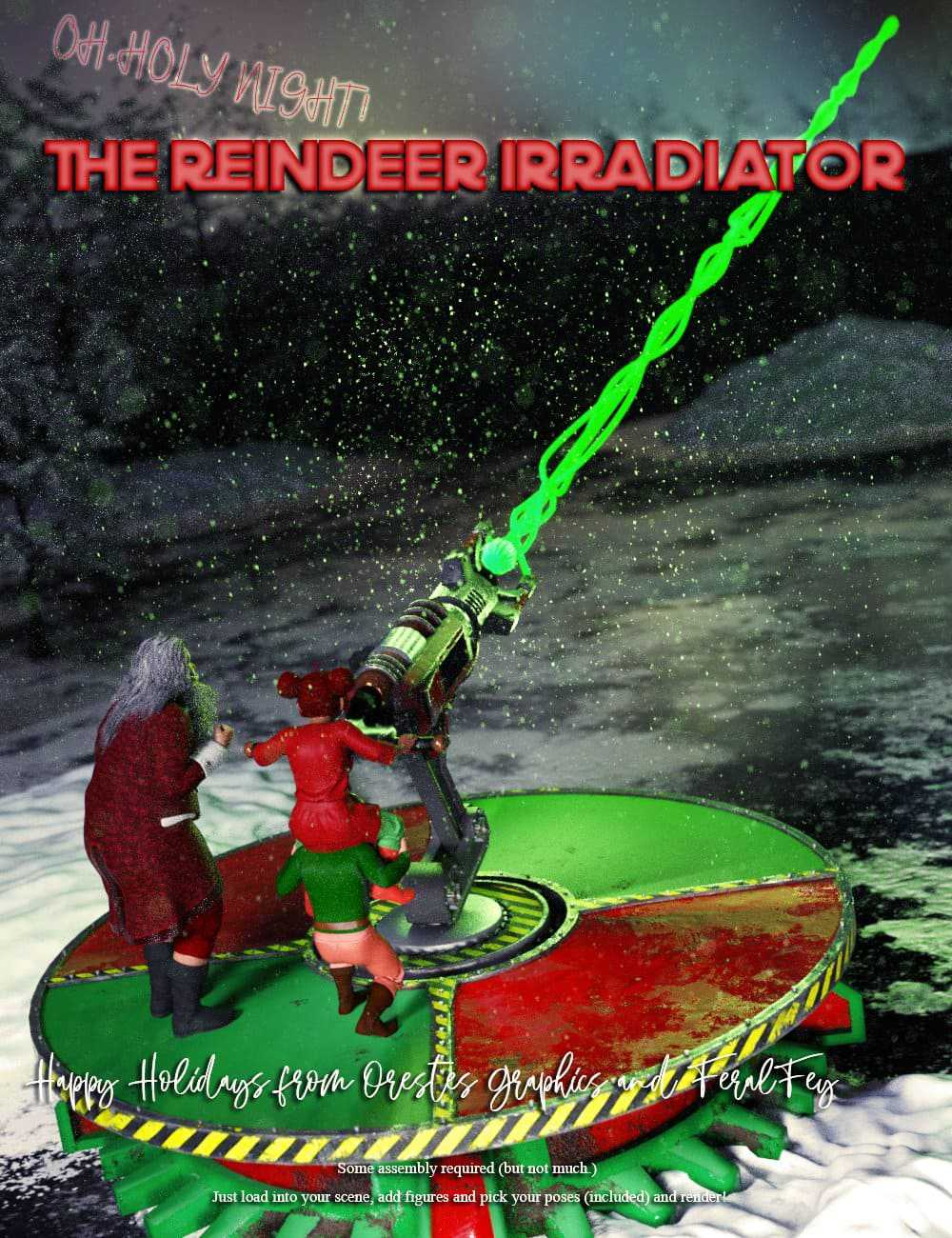 Reindeer Irradiator and Poses
