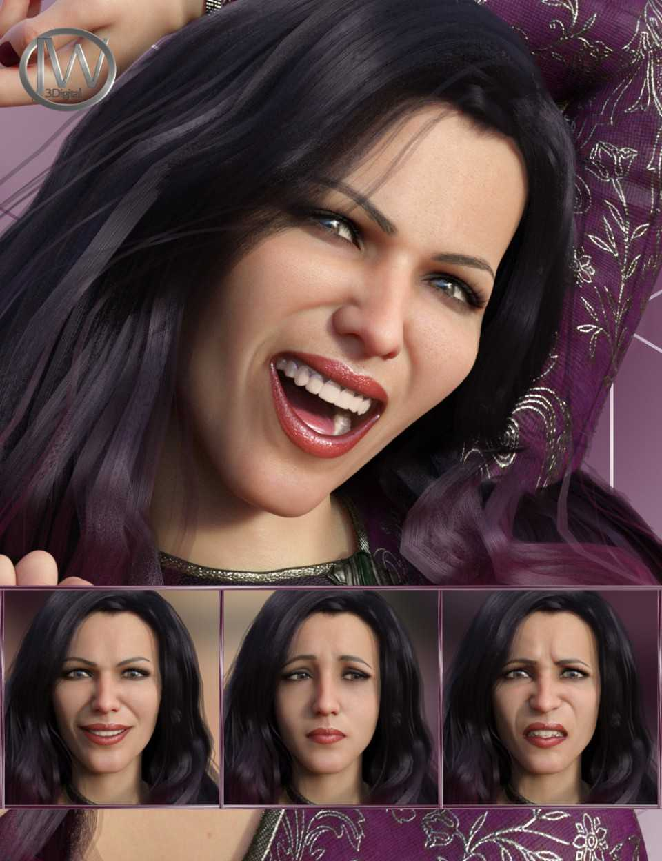 Feelings – Expressions for Genesis 8 Female and Bridget 8