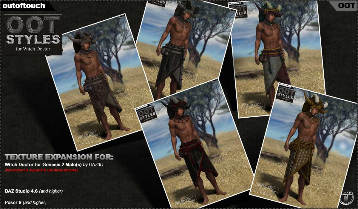 OOT Styles for Witch Doctor for Genesis 2 Male(s)