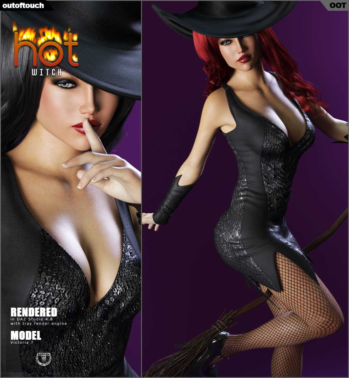 HOT Witch for Genesis 3 Female(s)