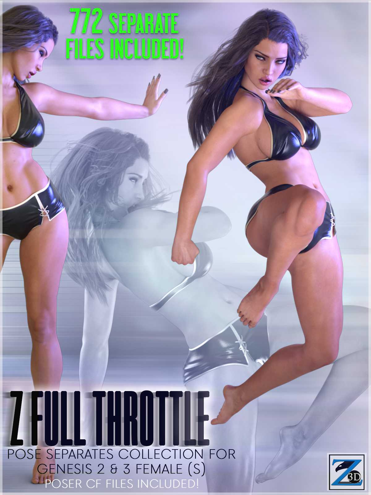Z Full Throttle – Pose Separates Collection for Genesis 2 & 3 Female(s)