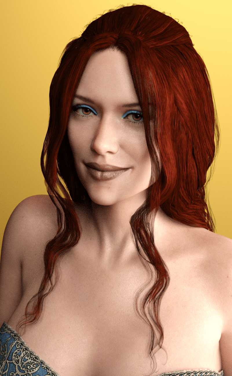Dahlia Hair for Genesis 3 Female(s)