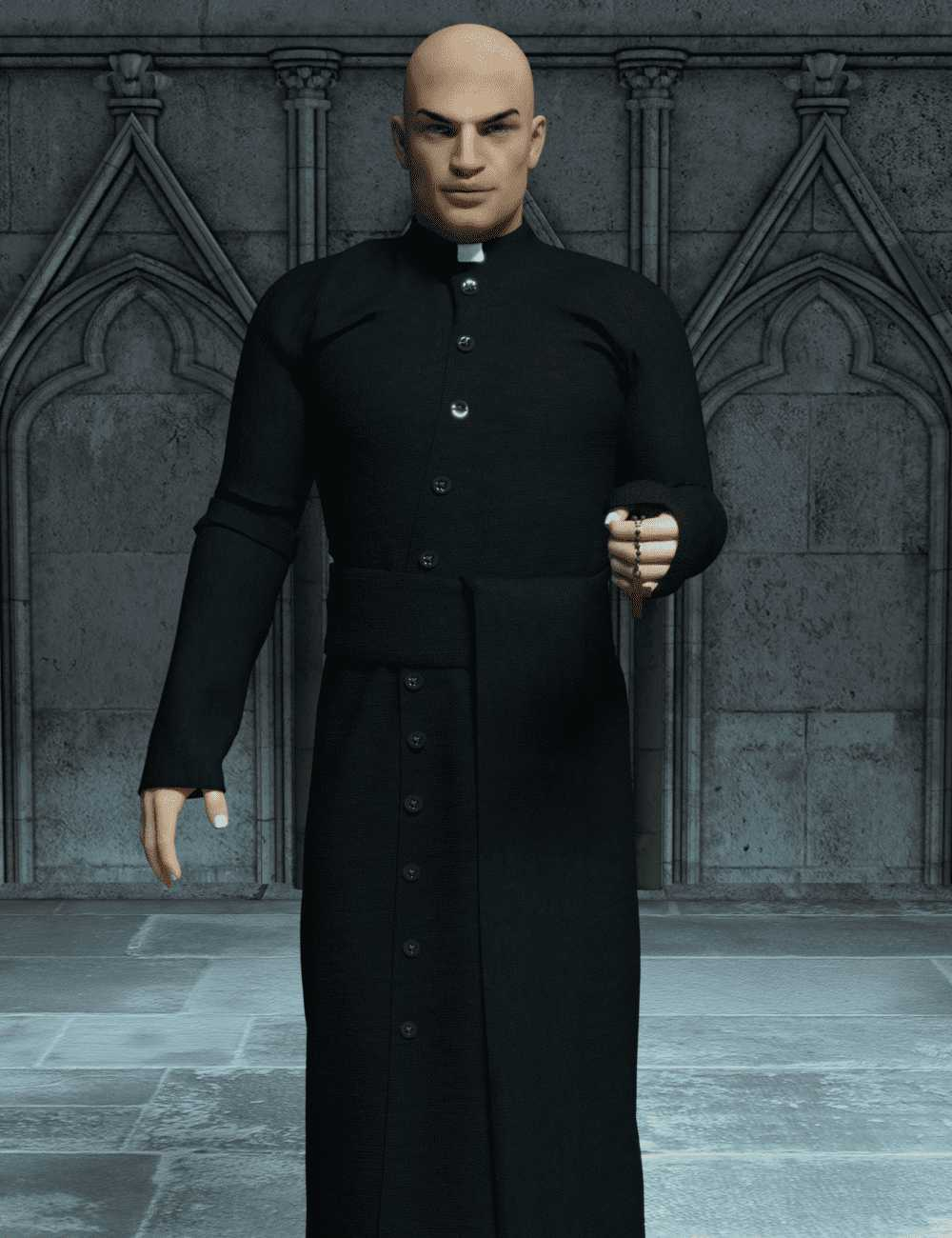 Priest Outfit for Genesis 3 Male(s)