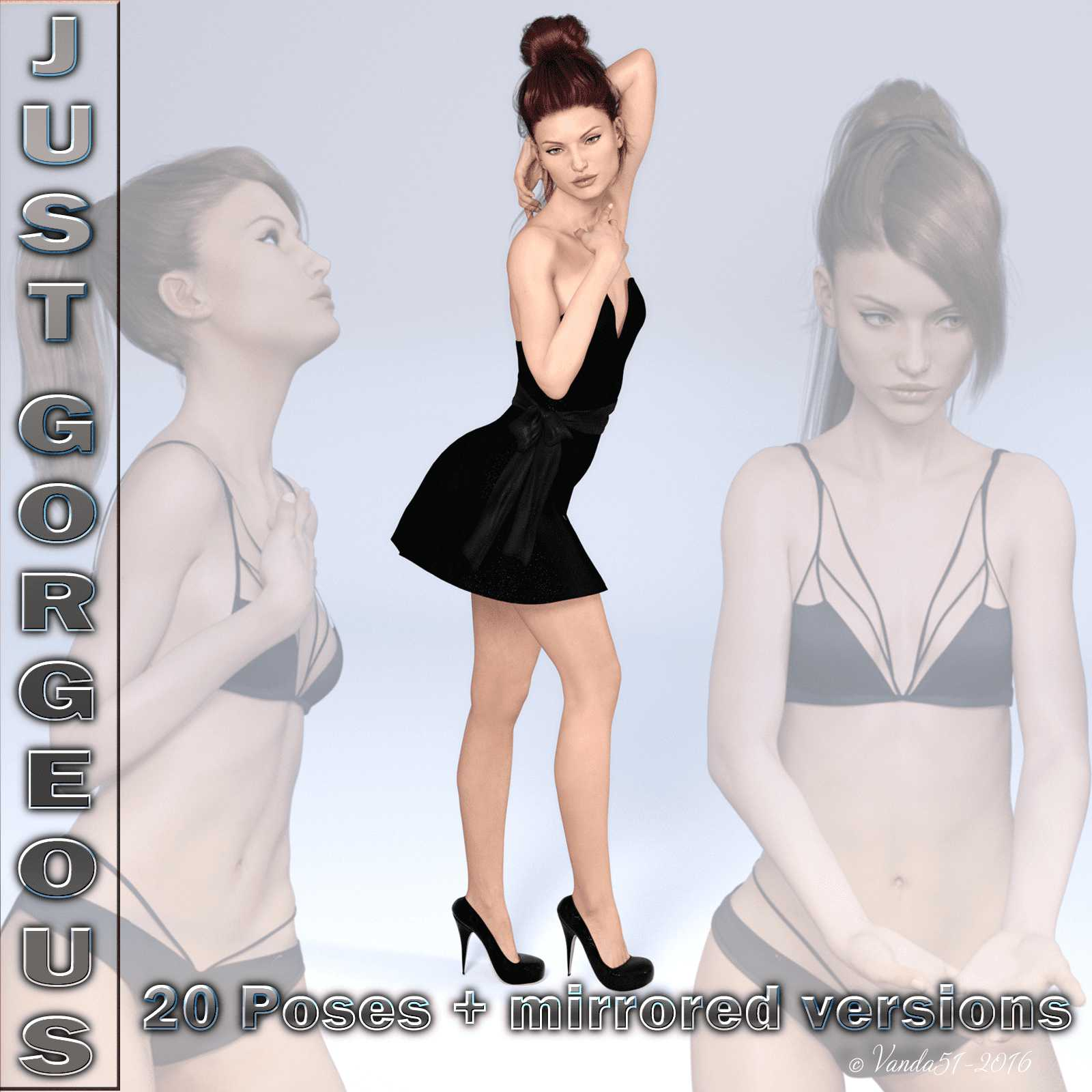 Just Gorgeous Poses for G3F