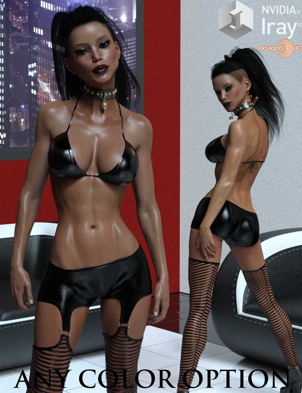 LUST – Attention Outfit for Genesis 3 Females