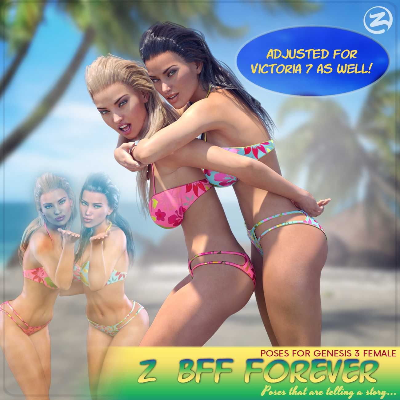 Z BFF Forever – Poses for Genesis 3 Female and Victoria 7