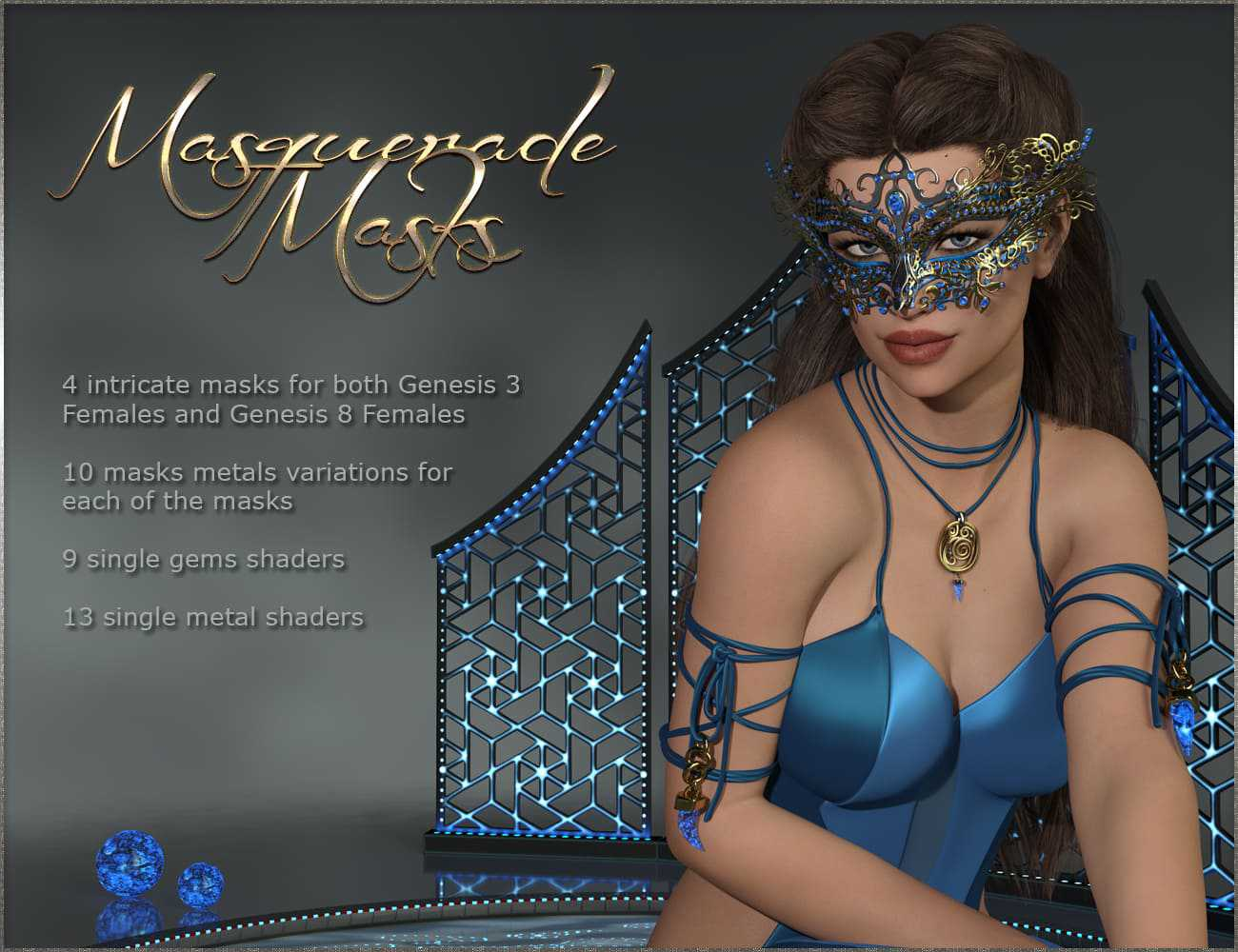 Masquerade Masks – Genesis 3-8 Females