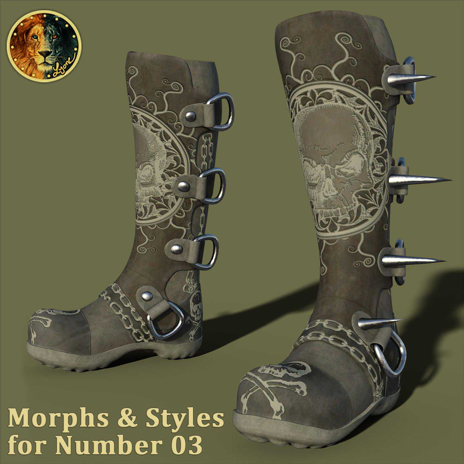 Morphs and Styles for Number 03