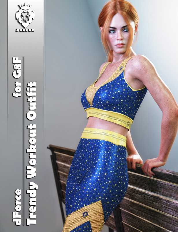 JMR dForce Trendy Workout Outfit for G8F