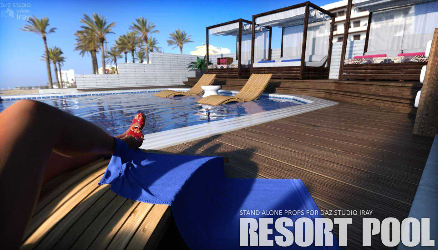 Resort Pool Daz Studio