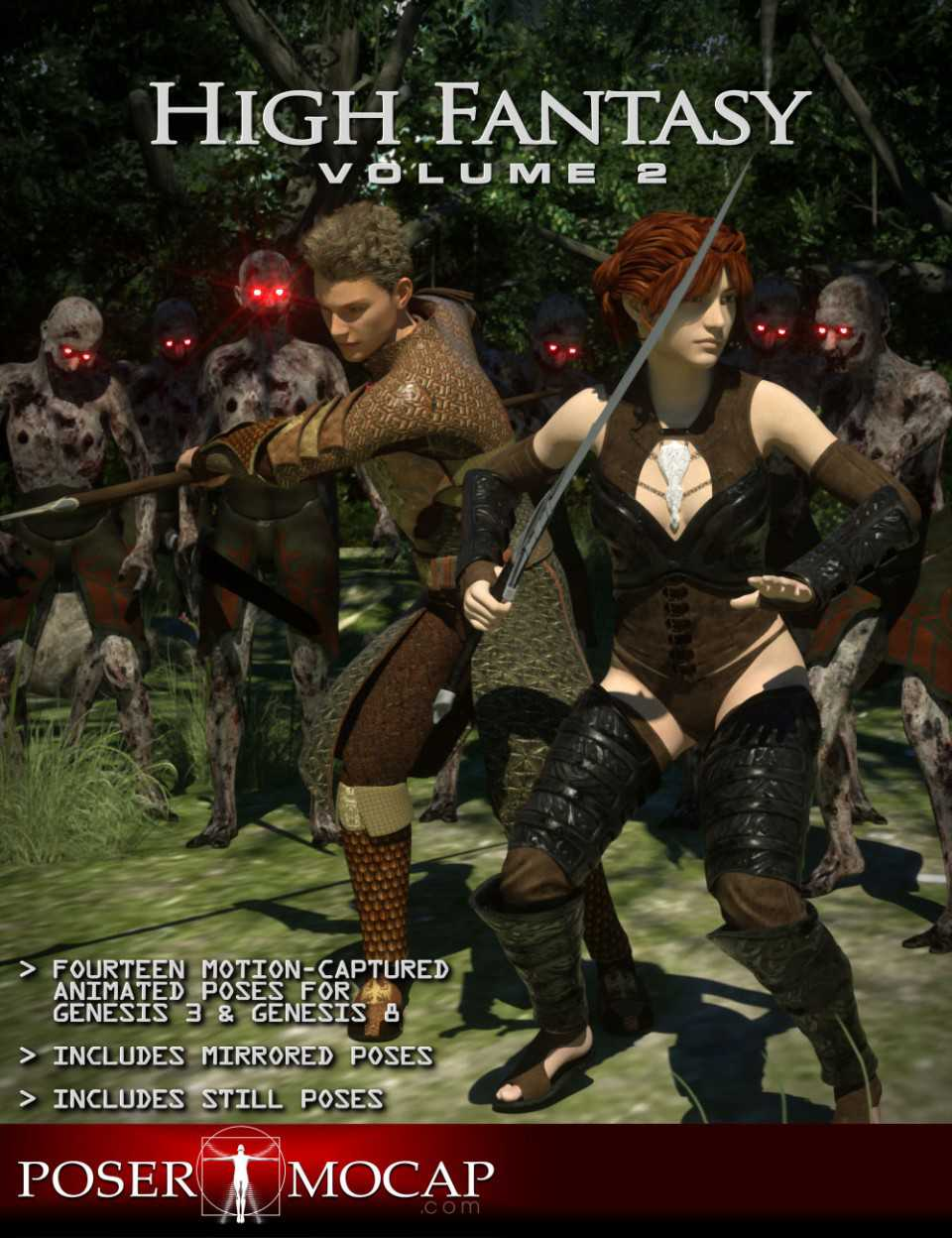 High Fantasy Volume 2 – Fantasy Animations for Genesis 3 and 8