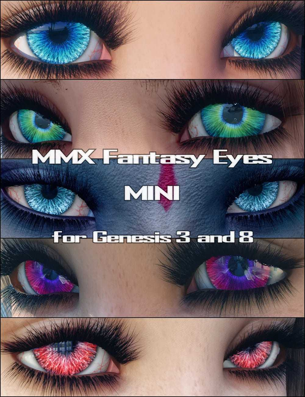 MMX Fantasy Eyes Mini for Genesis 3 and 8