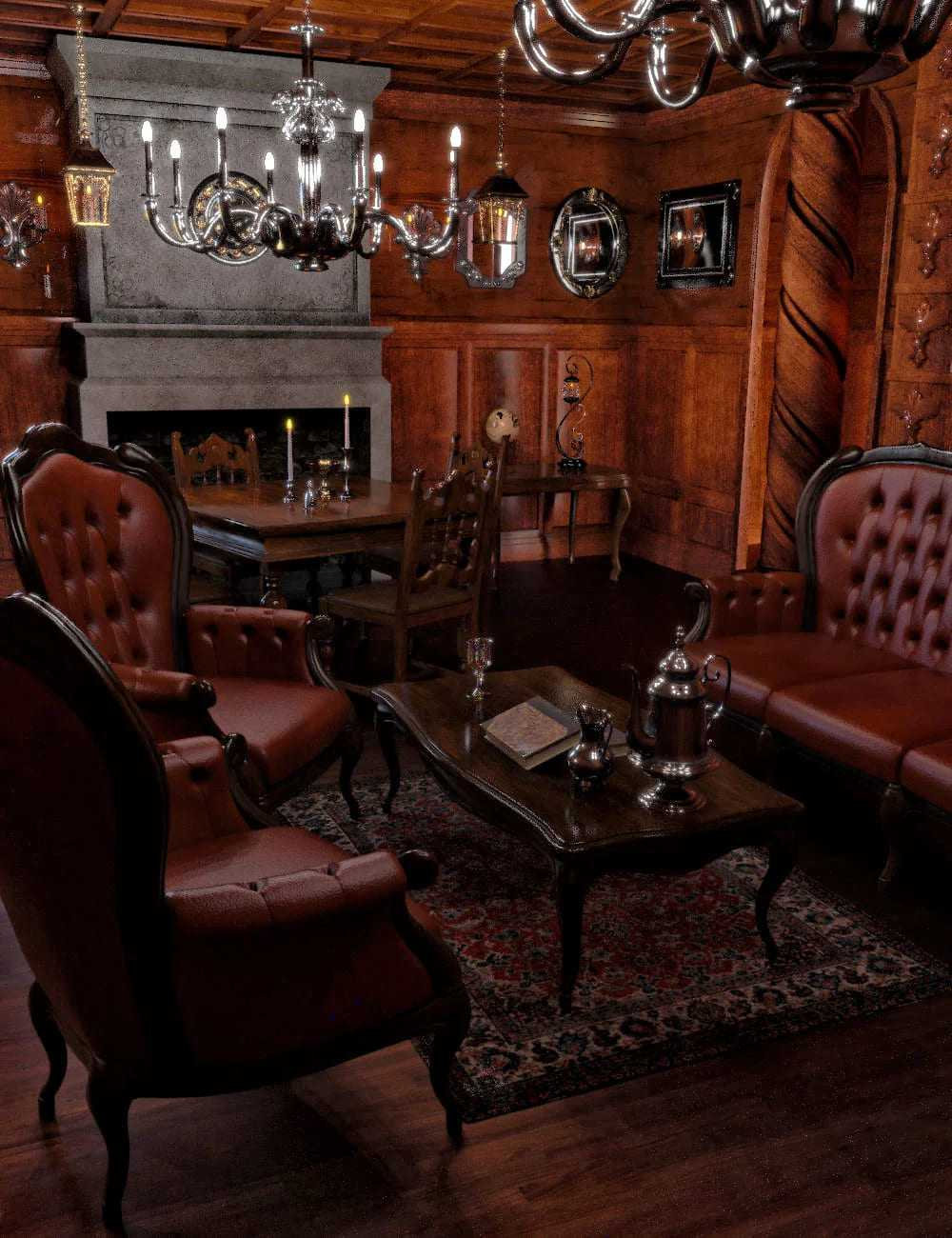 FG Gothic Living Room