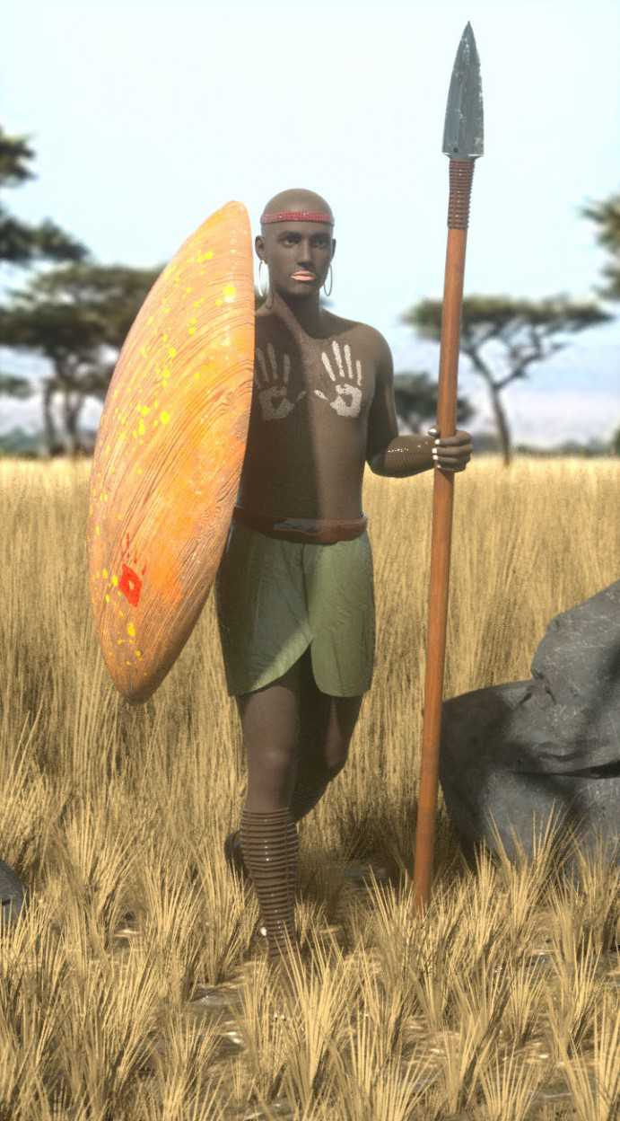 African Tribal Warrior Outfit for Genesis 8 Male(s)