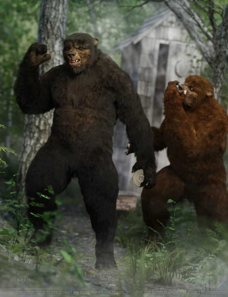 Bear Clan with dForce Hair for Genesis 8 Male