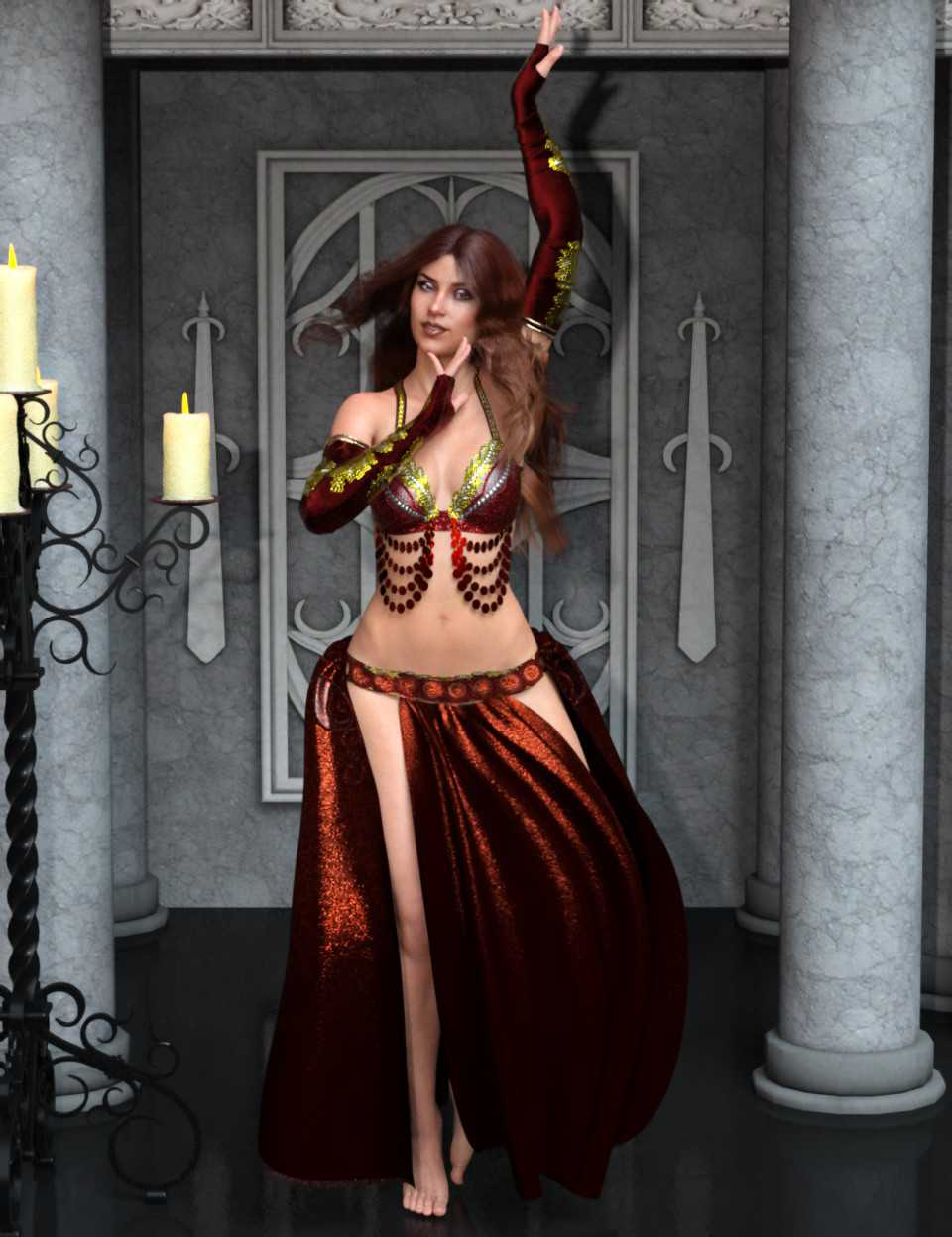 Belly Dancer Poses for Genesis 8 Female