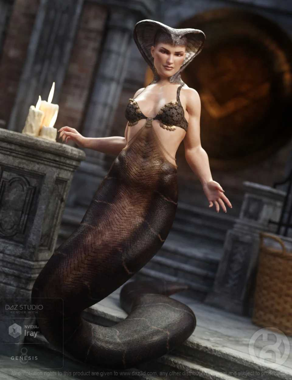Cobra Queen for Genesis 8 Female