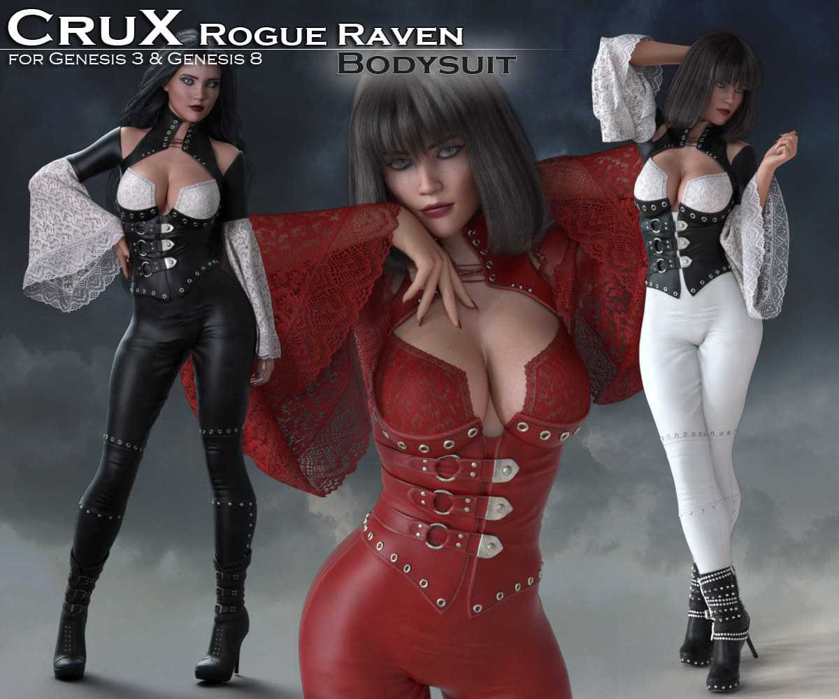 CruX Rogue Raven Bodysuit with dForce