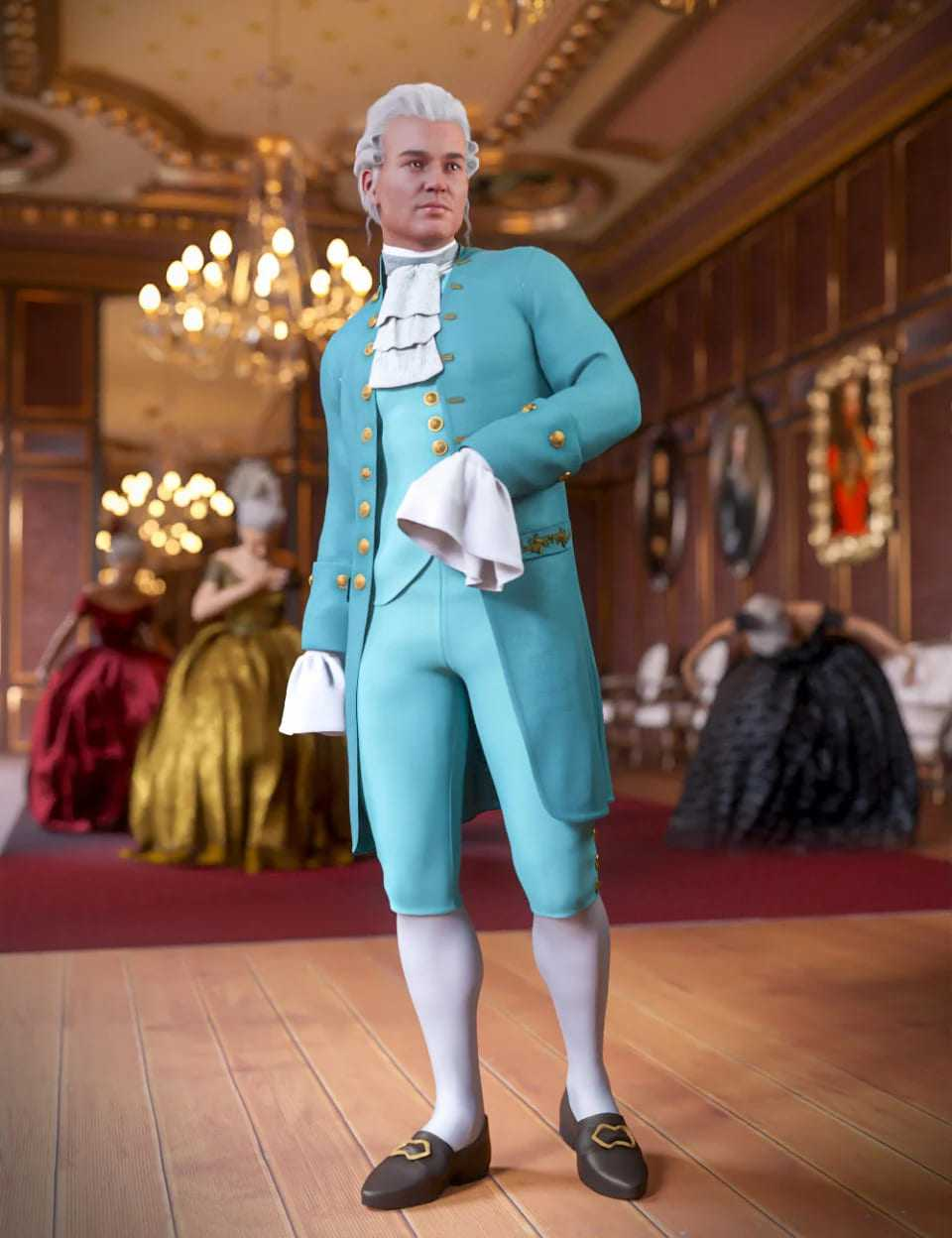 dForce Le Roi Outfit for Genesis 8 Male
