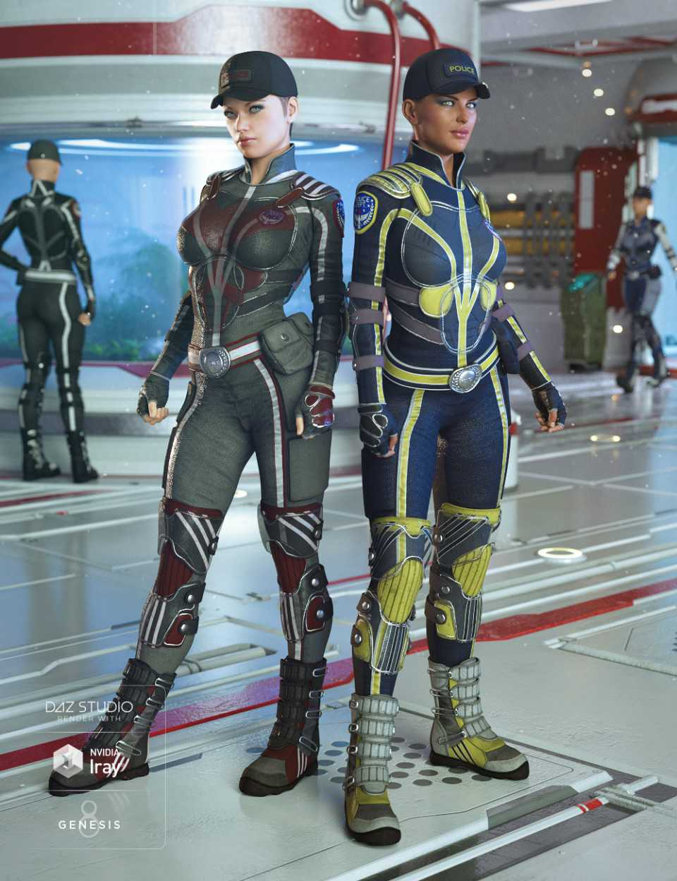 Sci-fi Police Outfit Textures