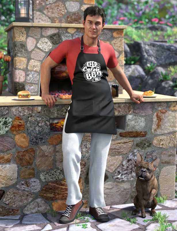 dForce Backyard BBQ Outfit for Genesis 8 Male(s)