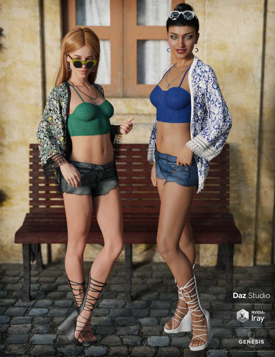 dforce Boho Style Outfit Textures