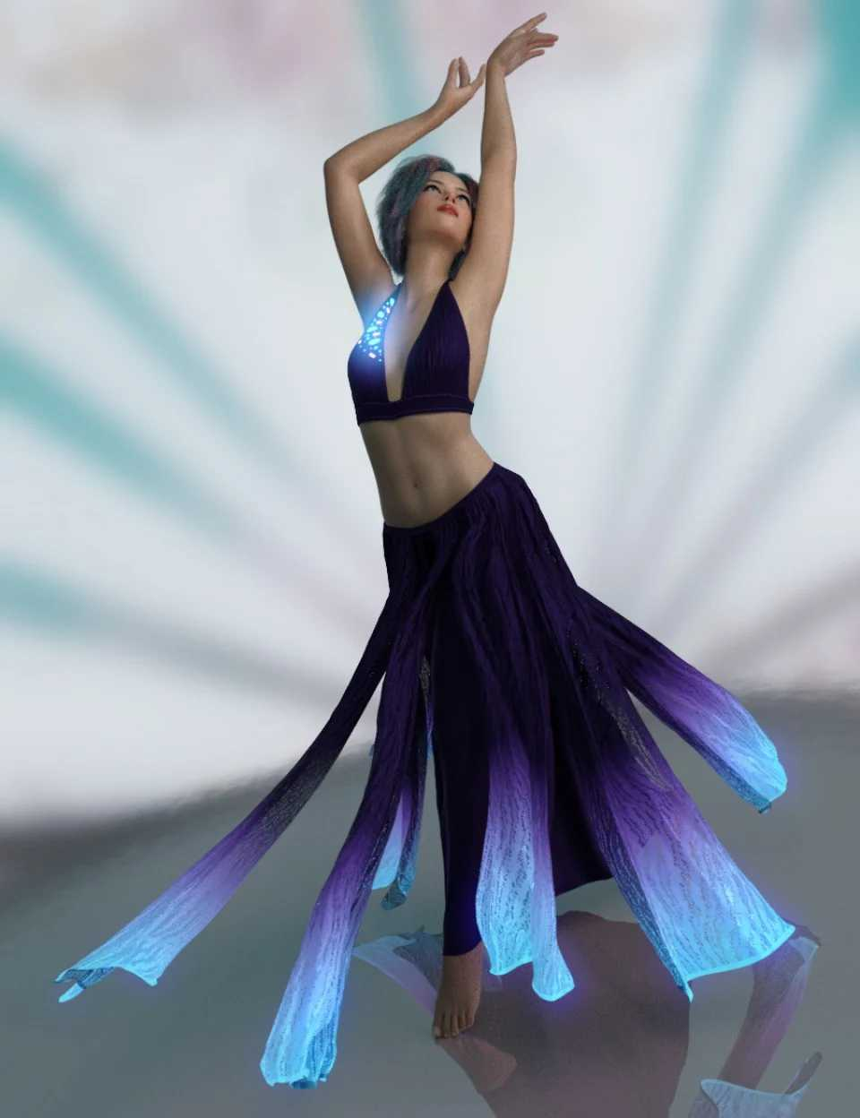 dForce Light Magic Outfit for Genesis 8 Female(s)