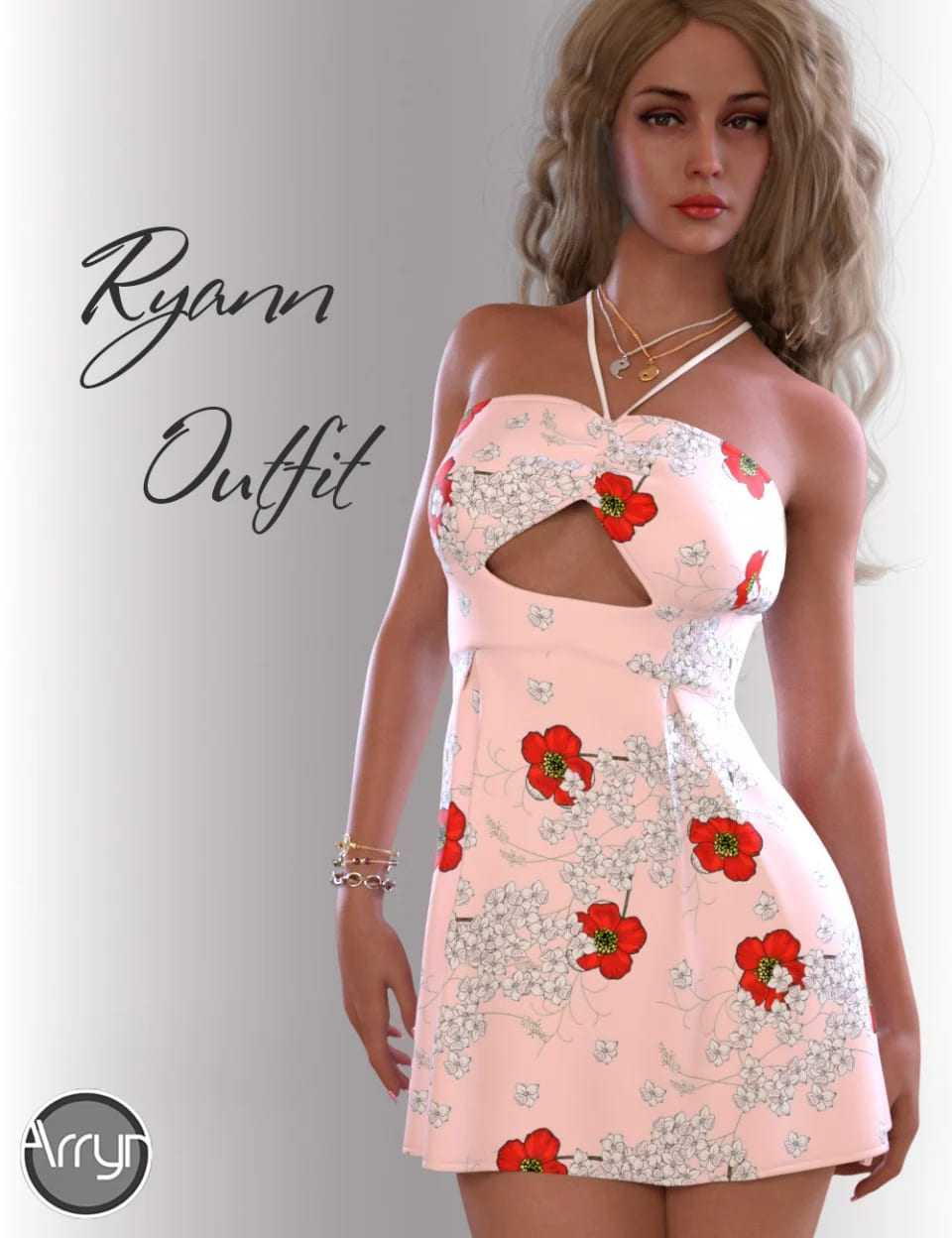 dForce Ryann Candy Outfit for Genesis 8 Female(s)