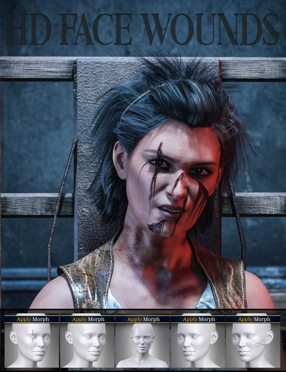 HD Face Wounds for Genesis 3 & 8 Female(s)