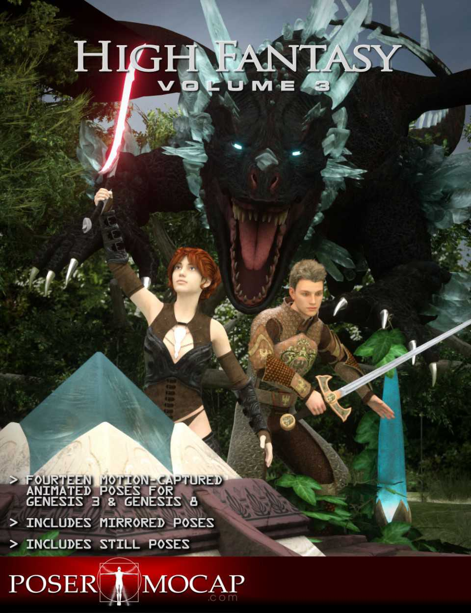 High Fantasy Volume 3 – Fantasy Animations for Genesis 3 and 8