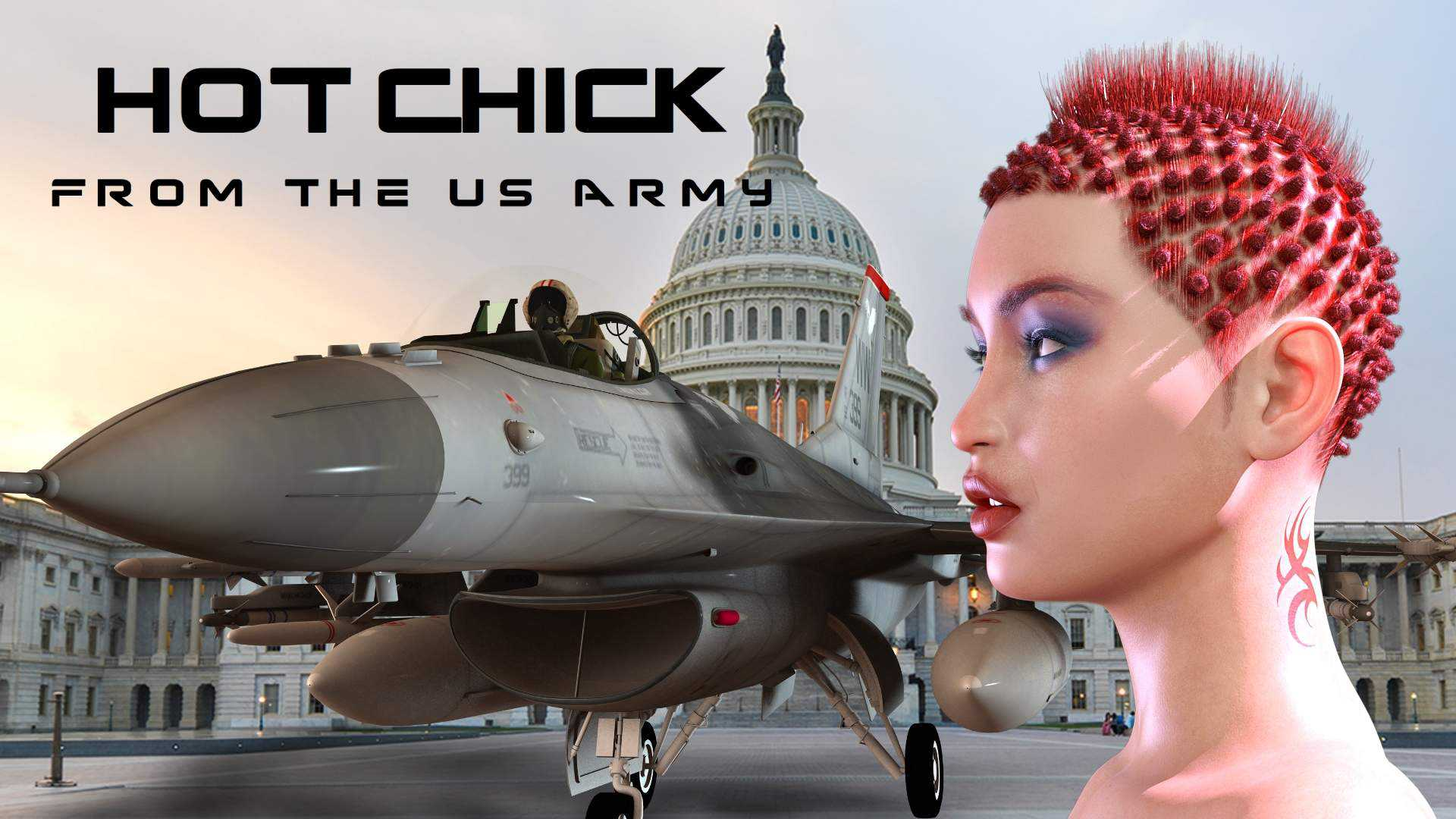 Hot Chick From The US Army For Genesis 8 Female