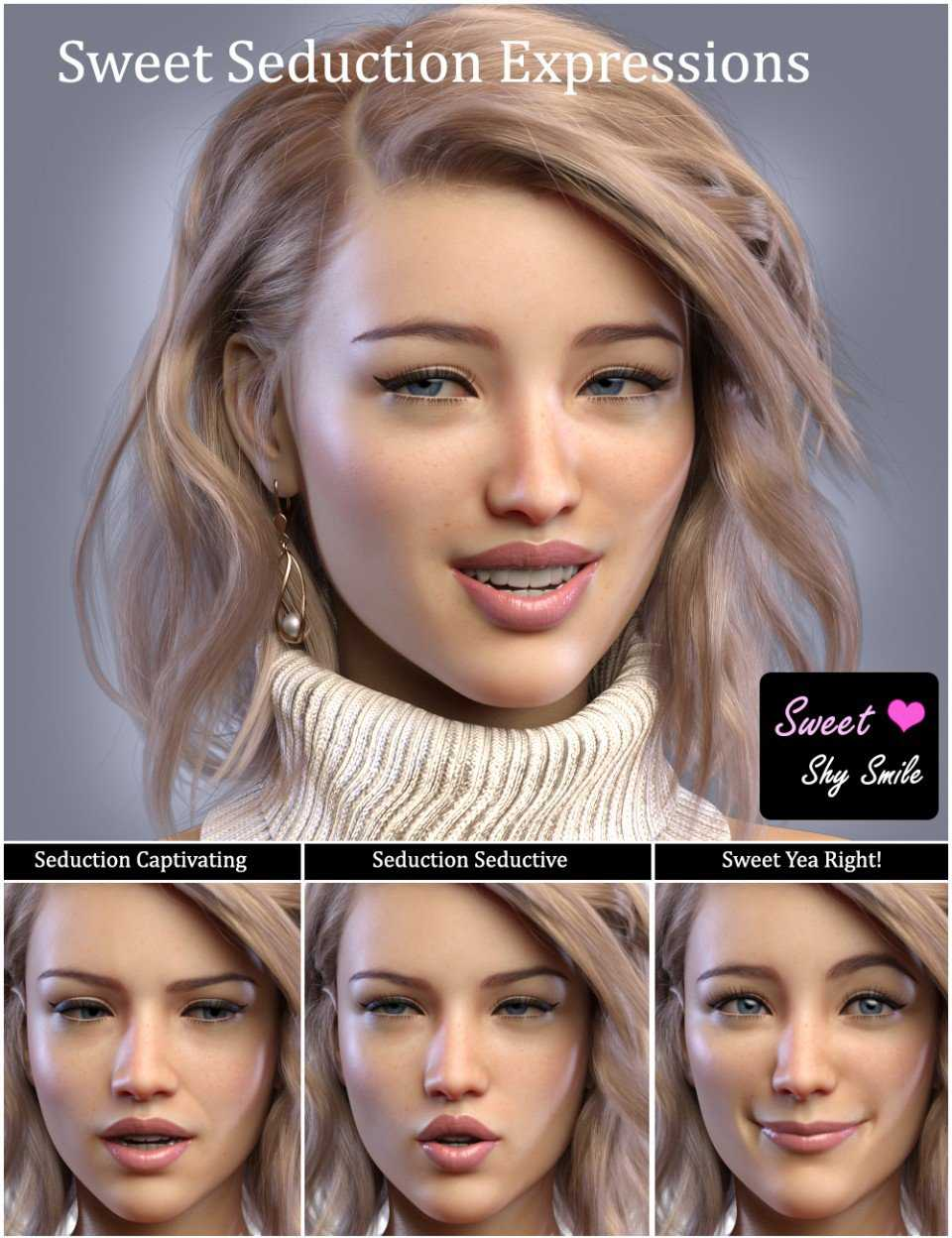 iV Sweet Seduction Expressions For Genesis 8 Female(s)