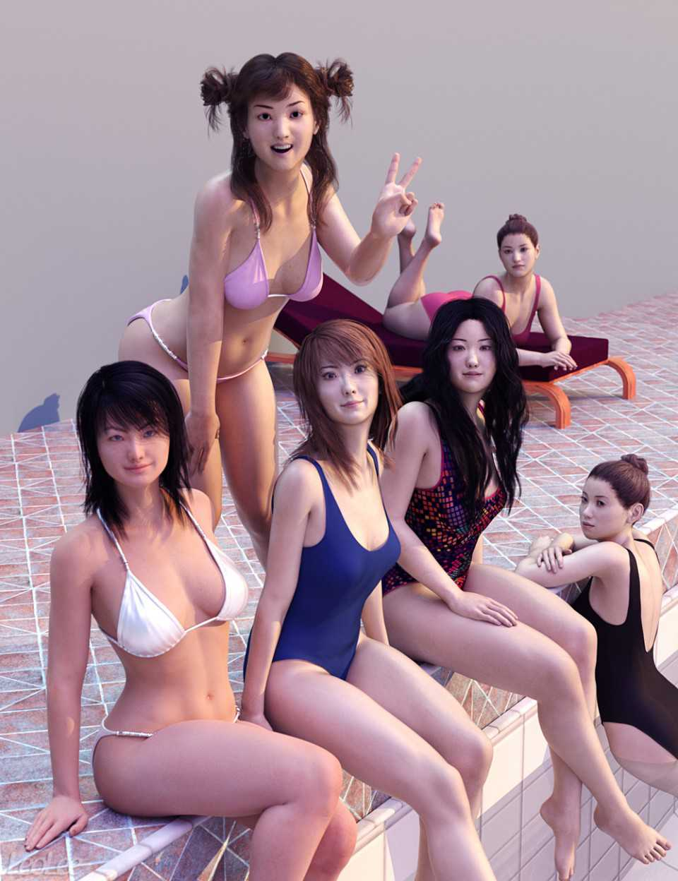 Japanese Face and Body Shapes for Genesis 3 and 8 Female