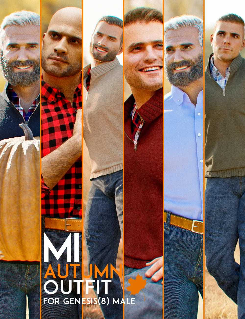 dForce MI Autumn Outfit for Genesis 8 Male(s)