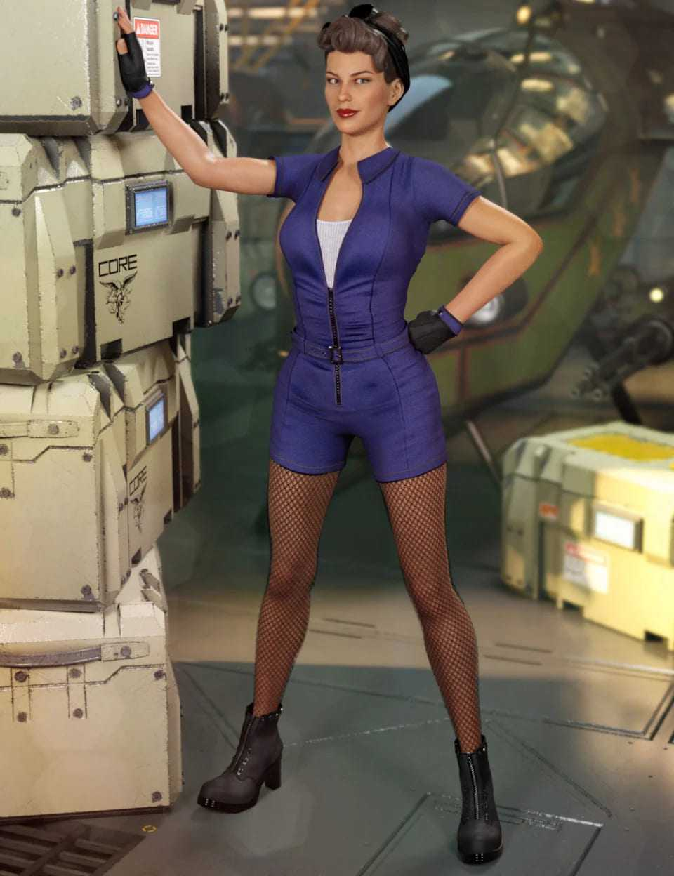 Miss Mecha Outfit for Genesis 8 Female(s)