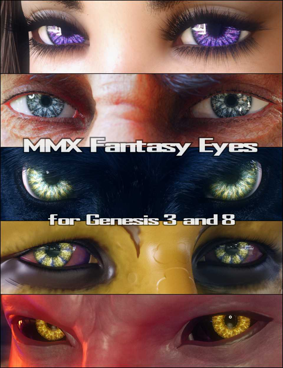 MMX Fantasy Eyes for Genesis 3 and 8