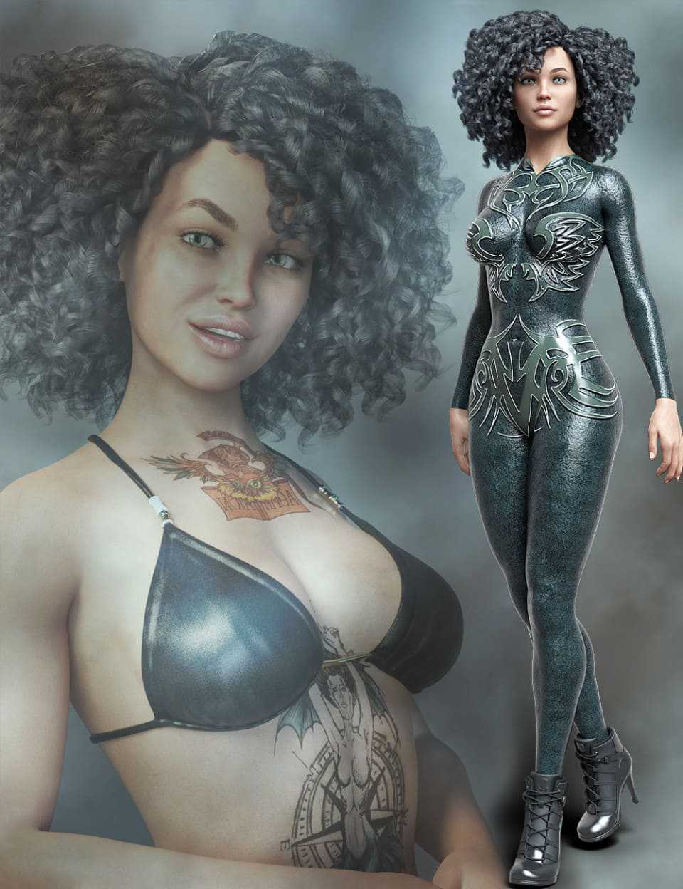 MR Mindy and Bodysuit for Genesis 8 Female