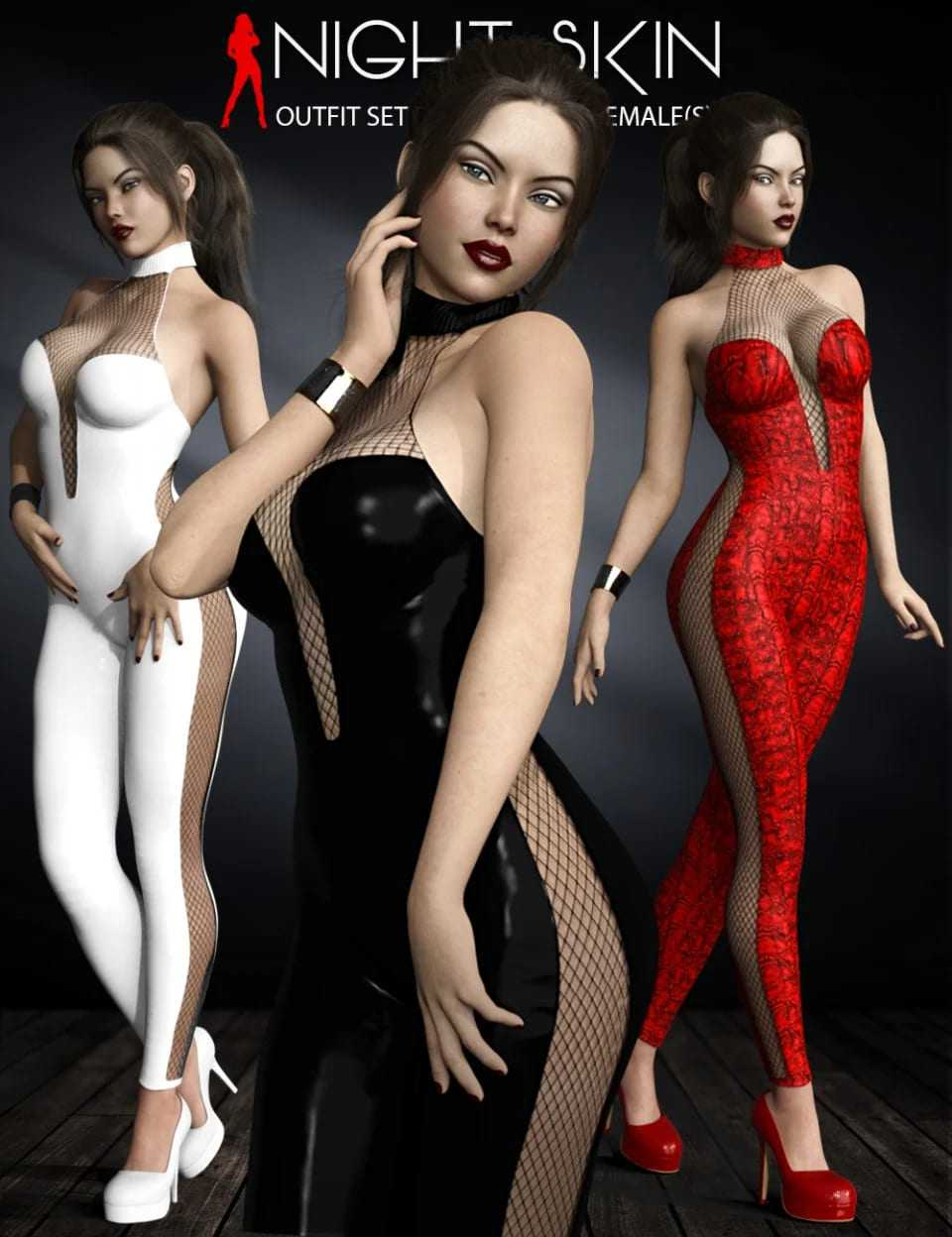 Night Skin Outfit Set for Genesis 8 Female(s)