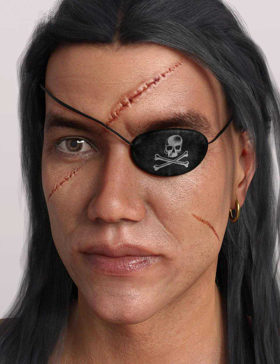 Pirate Accessories for Genesis 8 Male