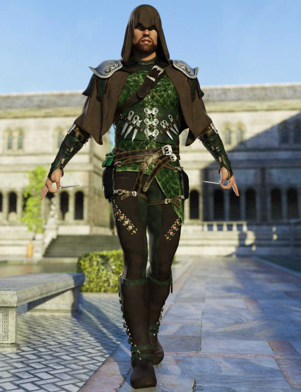 Raven Guild Assassin Outfit for Genesis 8 Male(s)