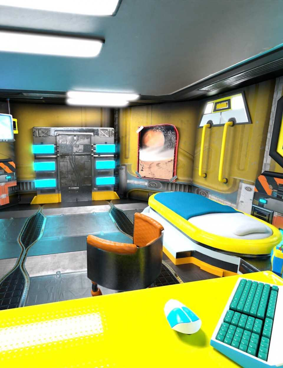 Retrospace Personal Quarters Scene Kit
