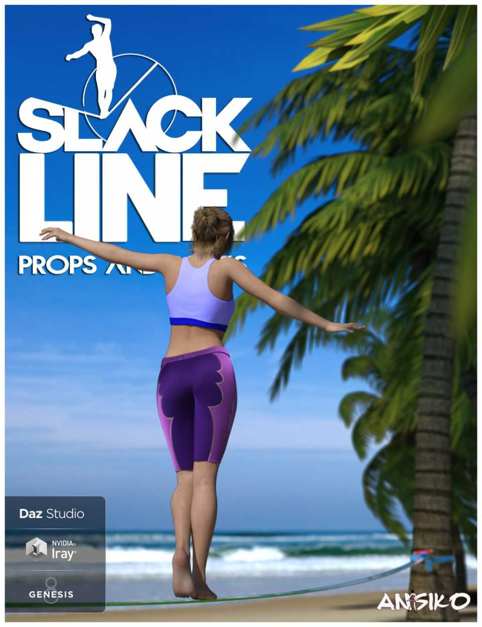 Slackline and Poses for Genesis 8
