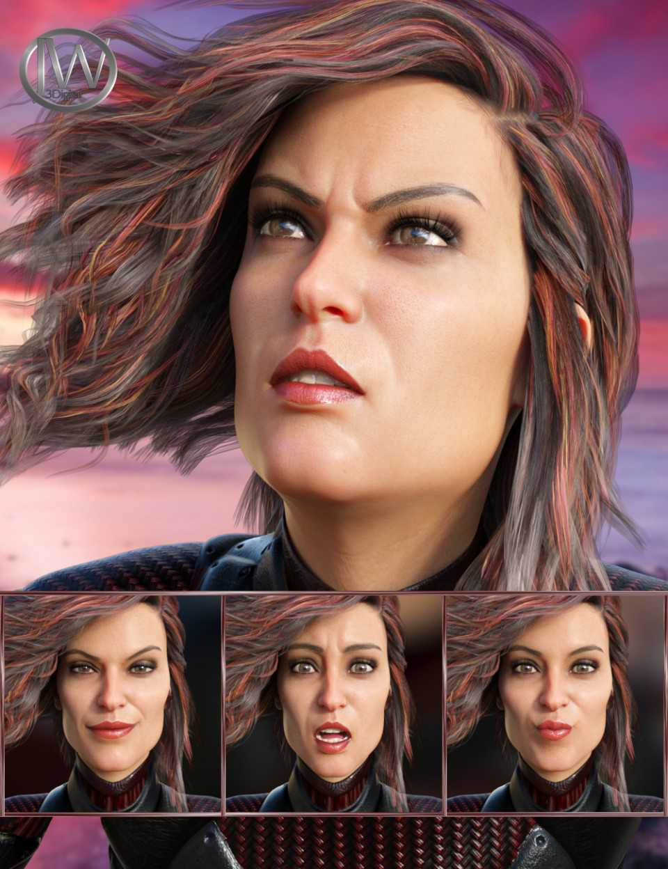 Spy - Expressions for Genesis 8 Female and Josephene 8