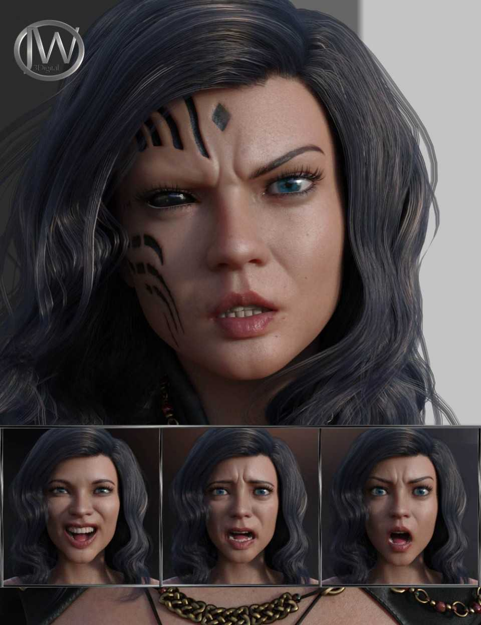 Unique and Special – Expressions for Genesis 8 Female and Zelara 8