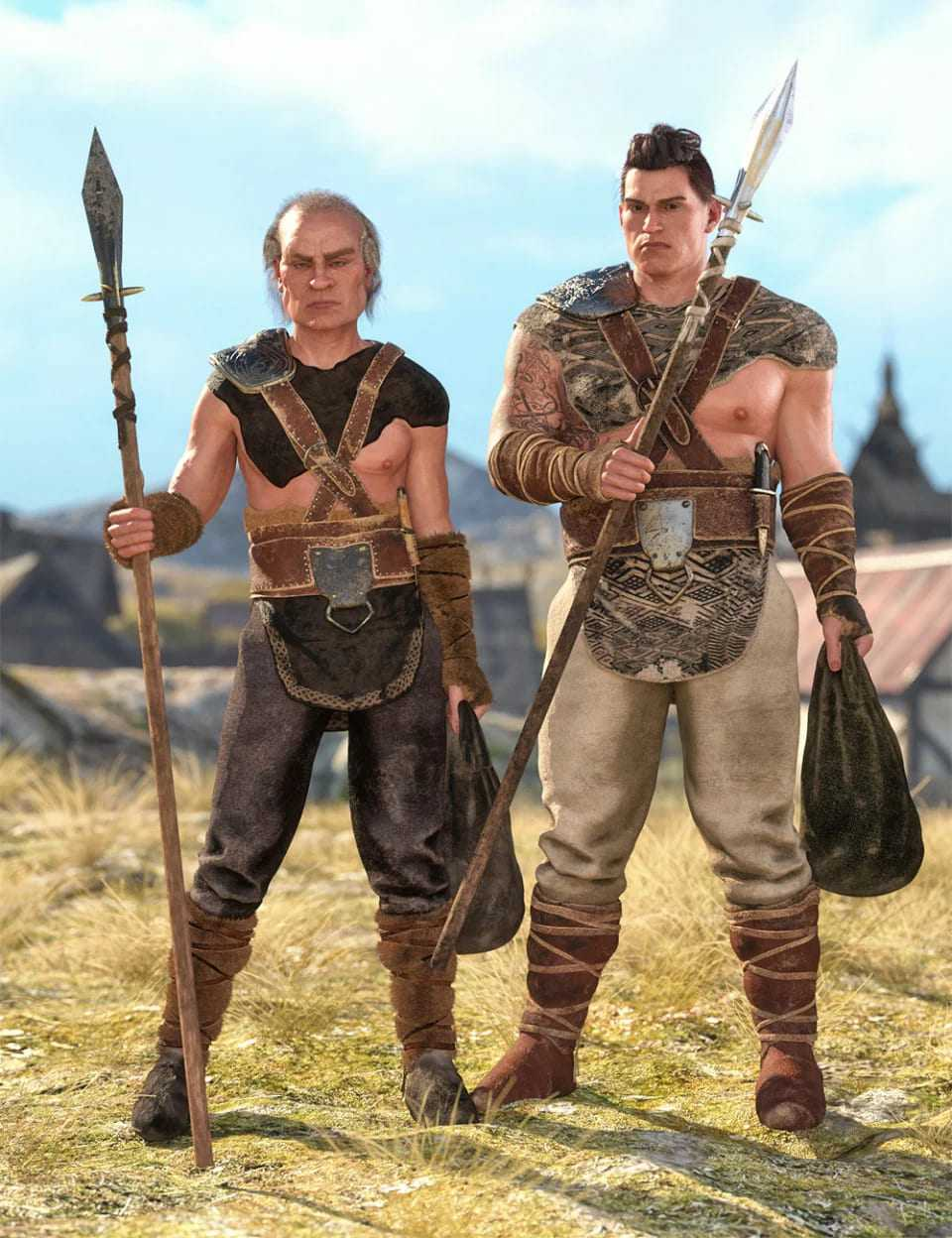 Viking Hunter Outfit Textures